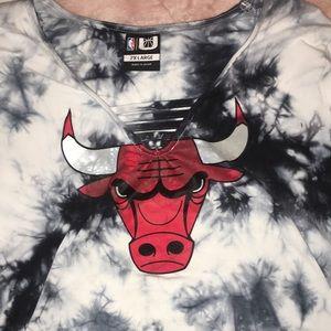 tie dye Chicago Bulls Body Suit